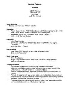 Resume For Childcare by 23 Best Images About Resumes On