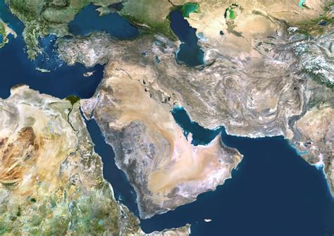 satellite map of middle east satellite image of middle east 163 24 60 cosmographics ltd