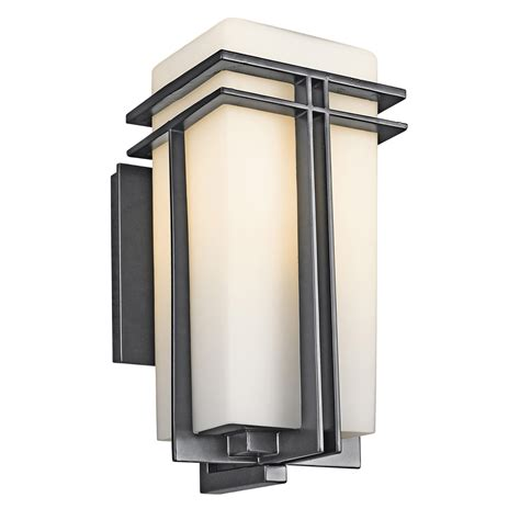 kichler outdoor lighting fixtures kichler 49201bk tremillo outdoor wall fixture
