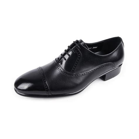 S 7 Dress Shoe by S Chic Black Leather Lace Ups Cap Toe Black Dress Shoes Us7 10 Made In Korea