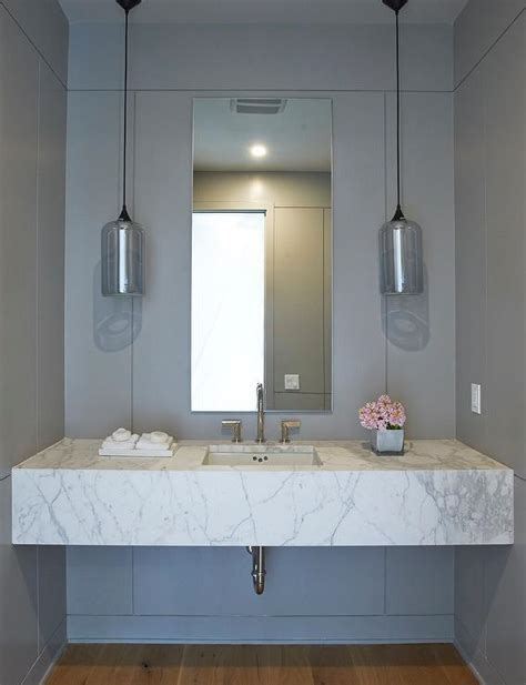 sink floating vanity floating marble sink vanity with gray glass pendants