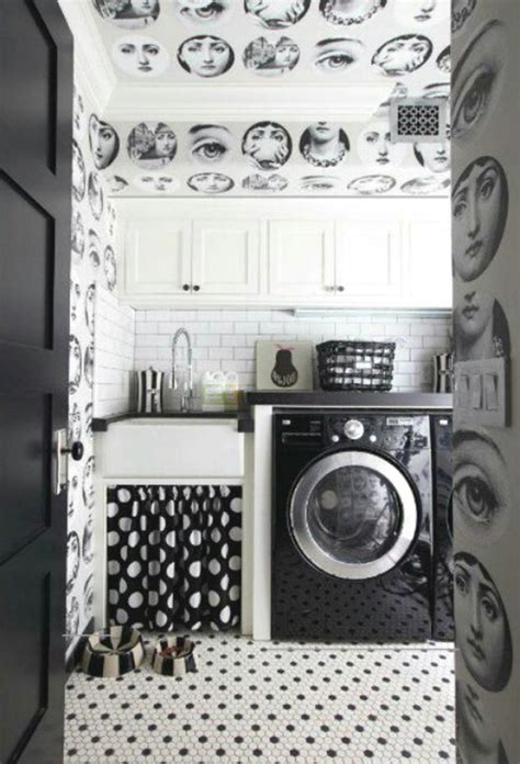 Black And White Laundry Room Design Ideas Black And White Laundry