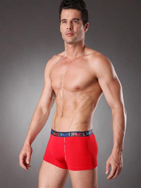 hombres huevudos en boxer boxer brief de casual rojo modal hombres milanoo com