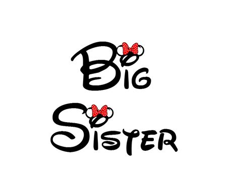 printable iron on logos disney big sister iron on transfer decaliron on transfer not