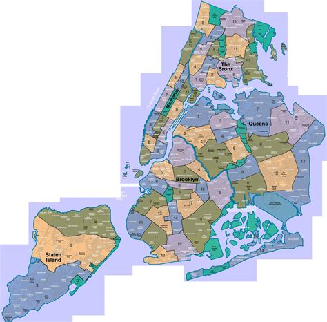 map of nyc neighborhoods new york a city of neighborhoods map new york ny mappery