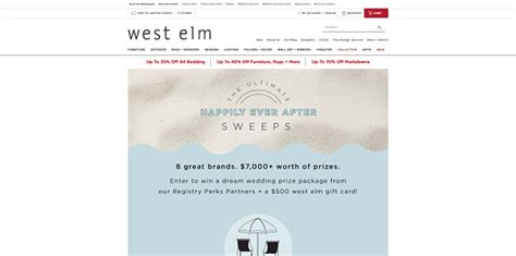 West Elm Sweepstakes 2017 - sweepstakeslovers daily west elm teavana more