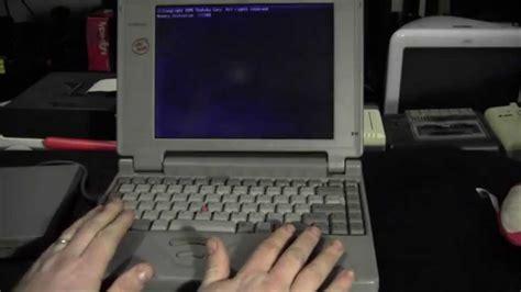 doom 2 on a vintage 1995 laptop o