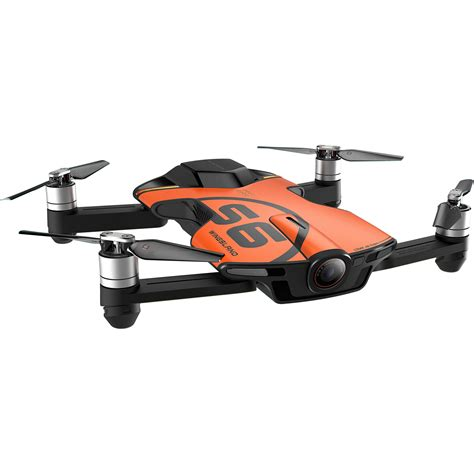wingsland s6 pocket drone orange s6 orange b h photo