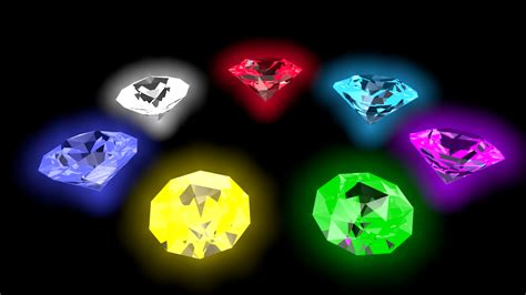 Kaos 3d White Glow In The 3d model chaos emeralds by rawlingsartwork on deviantart