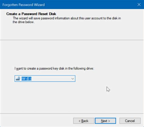 windows 10 password reset disk how to create windows 10 password reset disk on usb drive