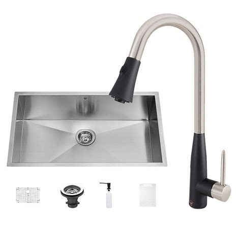 black stainless steel kitchen sink vigo all in one undermount stainless steel 32 in 0