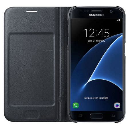 Samsung Galaxy S7 Official Led Flip Cover Casing Cover official samsung galaxy s7 led flip wallet cover black