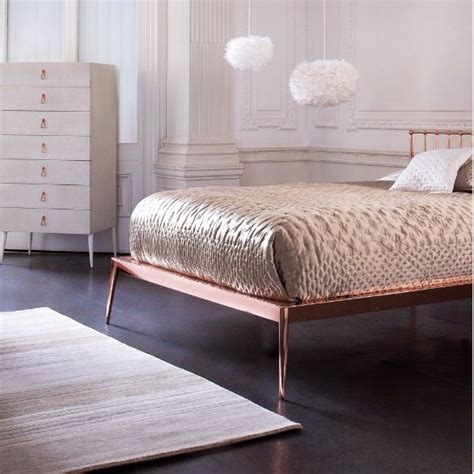 rose gold bed frame rose gold bed frame chic rose gold bed rose gold pinterest