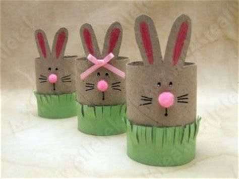 Toilet Paper Roll Bunny Craft - easter bunny craft idea for crafts and worksheets