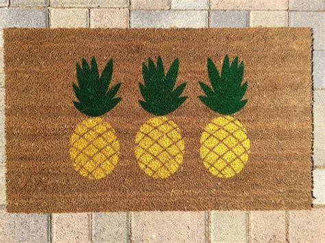 Pineapple Doormat 17 Best Ideas About Pineapple Painting On