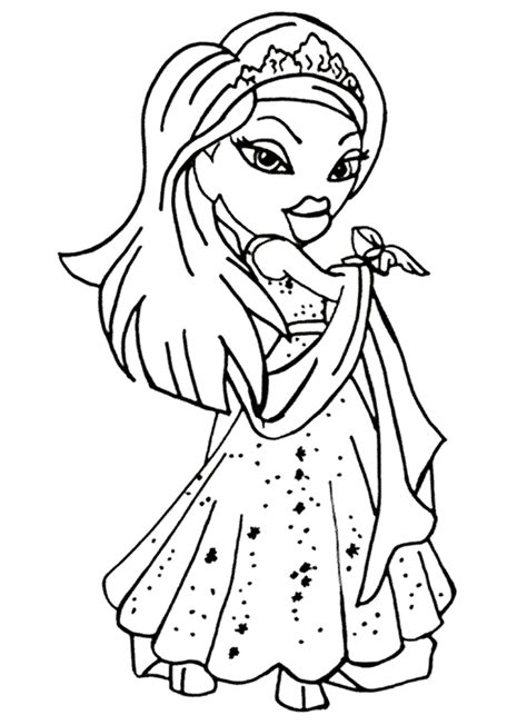 Prince And Princess Coloring Pages Color Page Princess