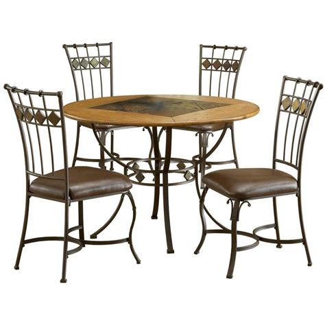 round slate dining hillsdale furniture lakeview 45 in dia 5 piece round