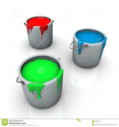 colorful rgb paint in pots royalty free stock images image 26481179