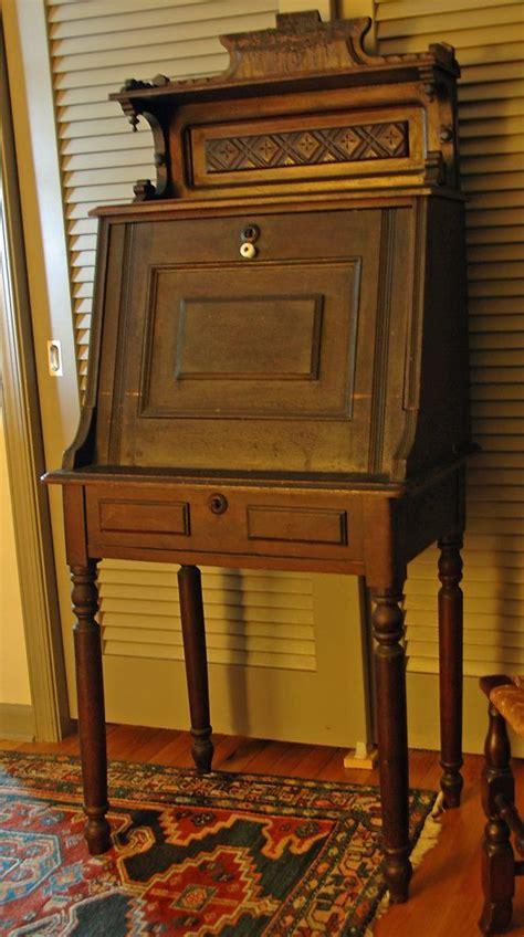 antique ladies secretary desk antique victorian eastlake secretary ladies desk slant
