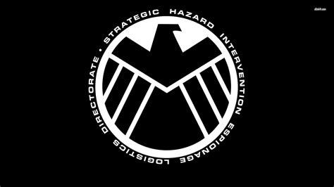 black and white l 48846 black and white s h i e l d logo the avengers