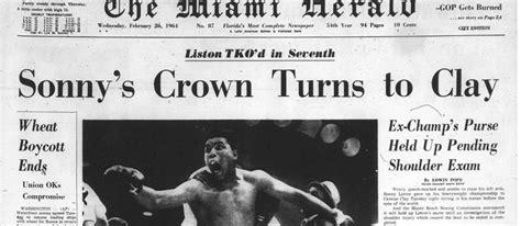 miami herald sports section cassius clay vs sonny liston 1964 flashback miami