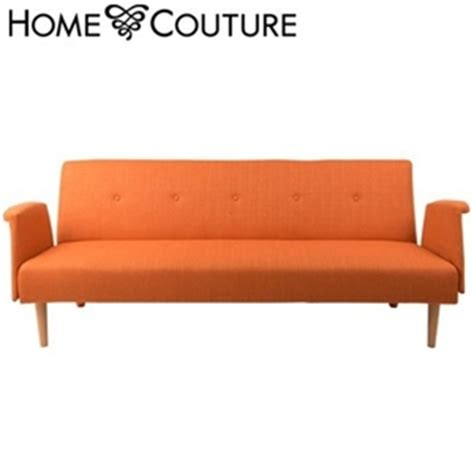 click clack sofa bed australia buy home couture click clack sofa bed with arms orange