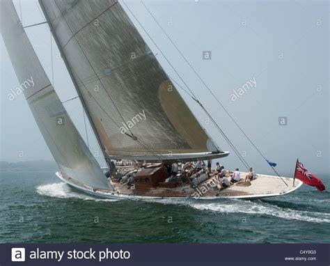 j boats racing in newport j class sail boat race in newport ri in 2011 stock photo