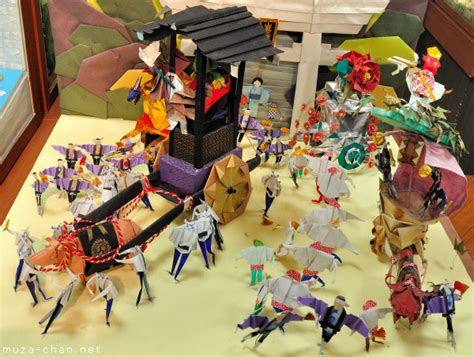 The History Of Origami In Japan - origami diorama masterpieces a great place to see and a