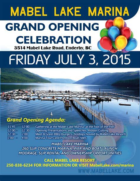 boat trailer rental bc marina full slips grand opening poster mabel lake resort