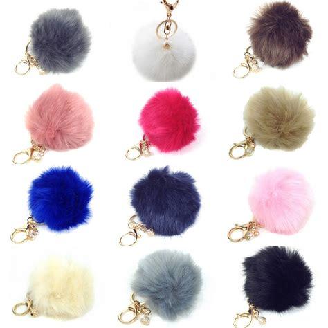 Fashion Pom Pom fashion culture faux fur pom pom keychain purse charm