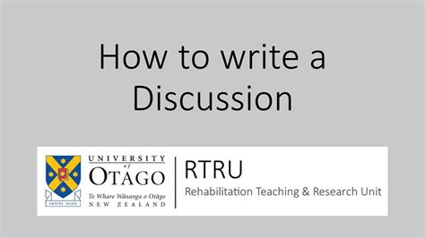 how to write the discussion section of a dissertation writing a discussion for a research paper or thesis