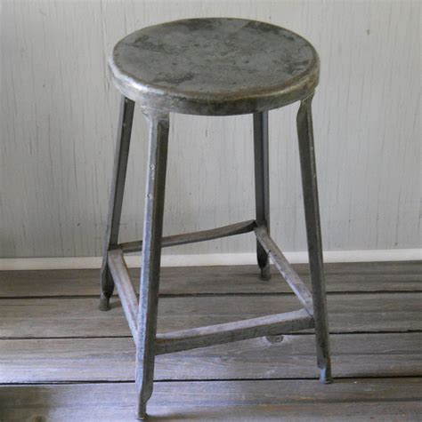 Flip Out Step Stool by Vintage Metal Stool With Flip Out Step Industrial Shop
