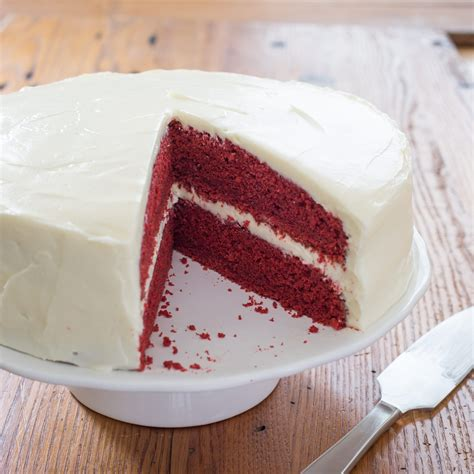 Redvelved Original velvet cake with cheese frosting cook s country