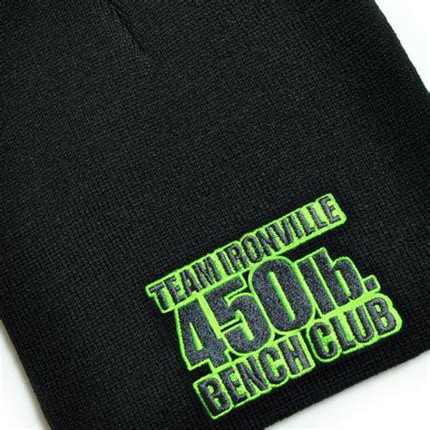 450 pound bench press 450 pound bench press club beanie skull cap ironville clothing