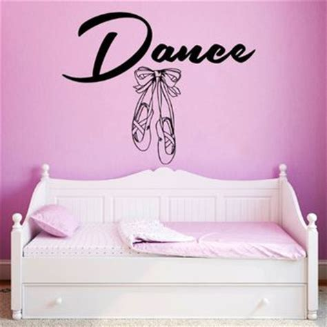 Bedroom Gymnastics Slippers Wall Decals Quote Ballerina Shoes From Wall