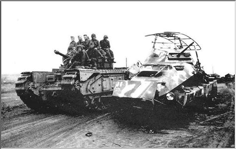 soviet lend lease tanks of 147281813x lend lease churchill tank passing a destroyed sd kfz 231 red army 1939 1945 lend