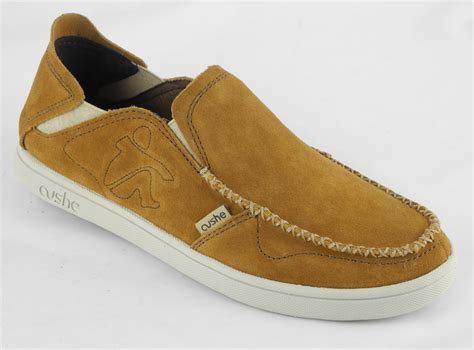 mens cushe evo lite suede leather loafers slip on
