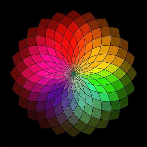 color creative rainbow style vector wheel stock vector image of petal