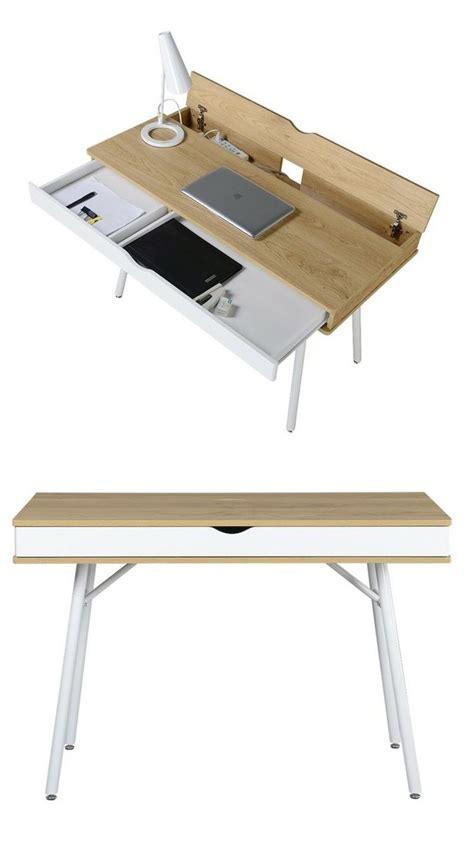 bureau moderne table bureau moderne esprit nordique avec tiroir rangement
