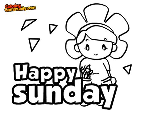 free coloring pages of days of the week