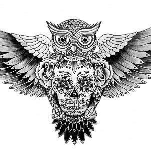 len outlet owl 1000 images about sugar skull tattoos on pinterest