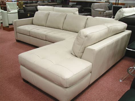 natuzzi leather sectional with chaise reclining sofa