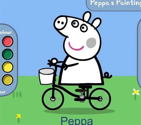 peppa pig painting free peppa pig coloring coloring europe