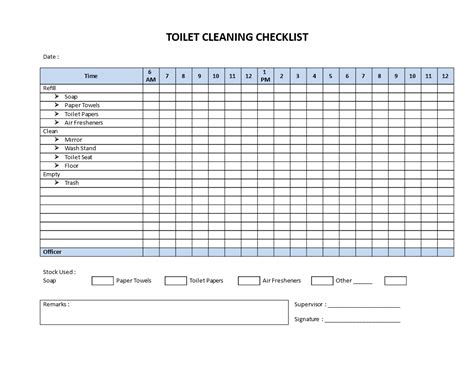 bathroom checklist free restroom cleaning checklist model templates at