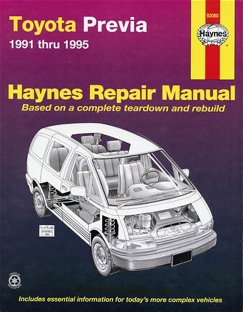 Toyota Previa Review Top Gear Haynes Toyota Previa Repair Manual 1991 1995