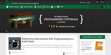 github tutorial ray wenderlich best ios blogs to follow for learning
