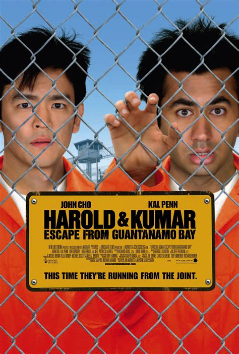Harold Kumar Escape From Guantanamo Bay 2008 Full Movie Harold Kumar Escape From Guantanamo Bay 2008 Poster Freemovieposters Net