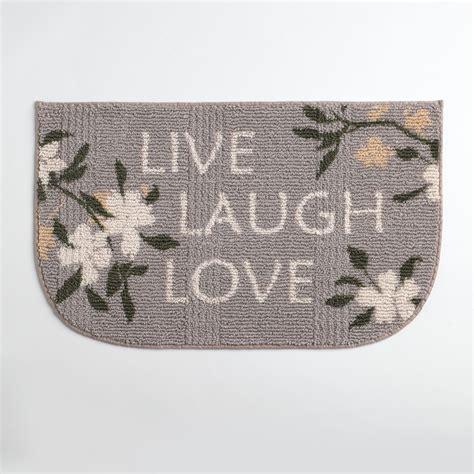 live laugh rug essential home live laugh kitchen rug home home decor rugs kitchen rugs