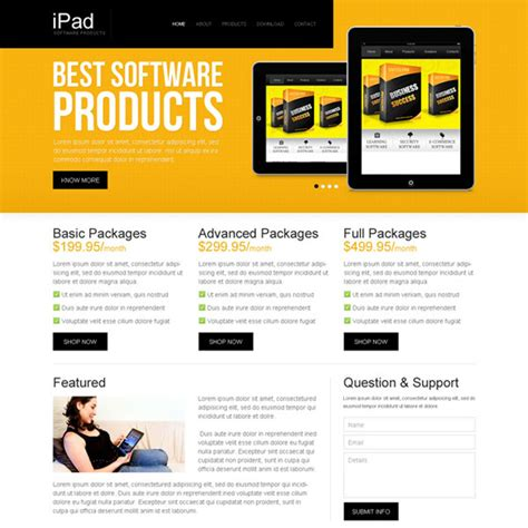 Best Software Products Attractive And Appealing Software Product Website Template Design Supplement Website Template
