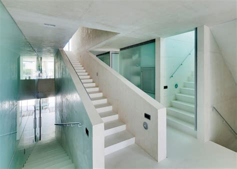 Glass Floor House by Concrete Home Features Pool With Glass Floor Modern